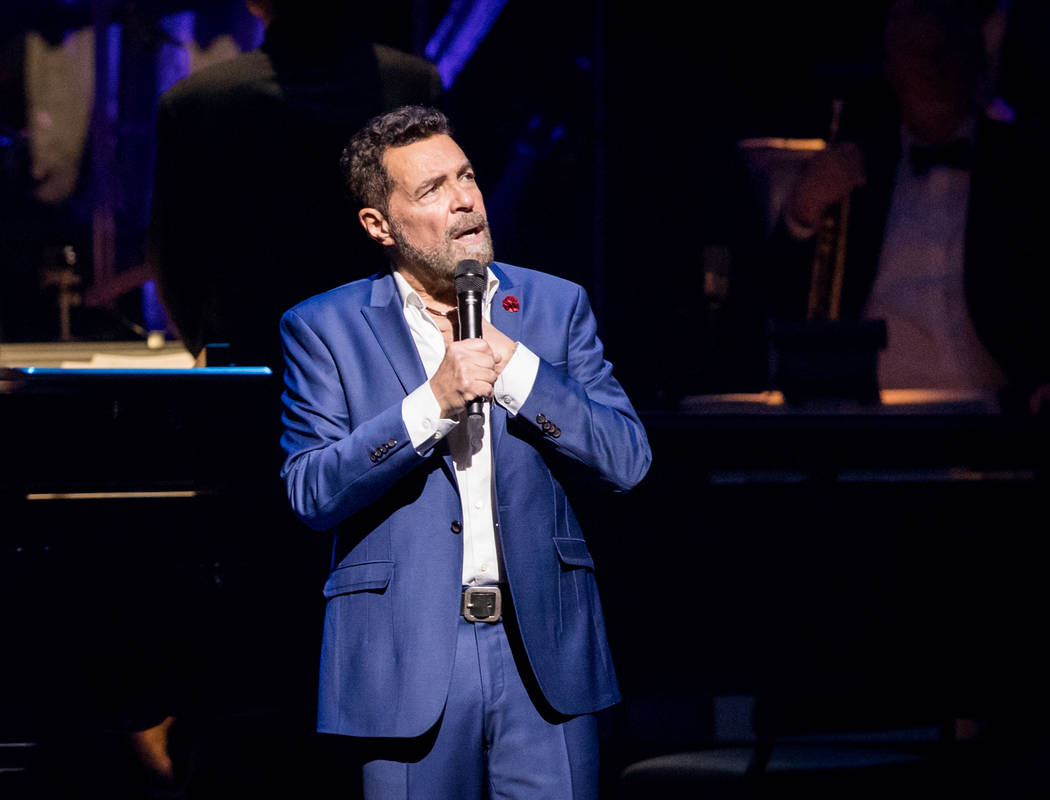 The fifth-anniversary celebration of The Smith Center for the Performing Arts on Tuesday, March 7, 2017, in Downtown Las Vegas. Clint Holmes is pictured here. (Erik Kabik)