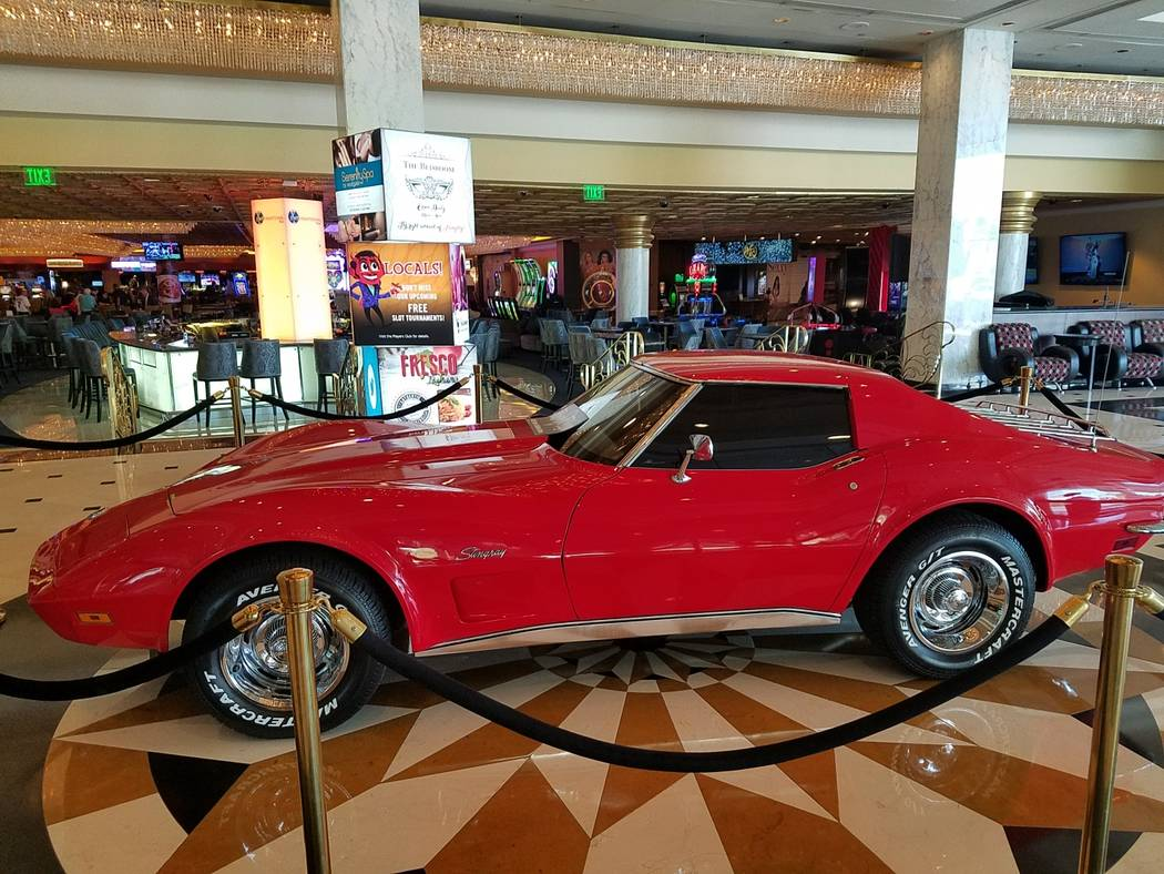The 1973 Corvette Stingray on loan from Planet Hollywood magician Murray Sawchuck is shown in the lobby of Westgate Las Vegas on Thursday, April 13, 2017. (Photo courtesy Murray Sawchuck)