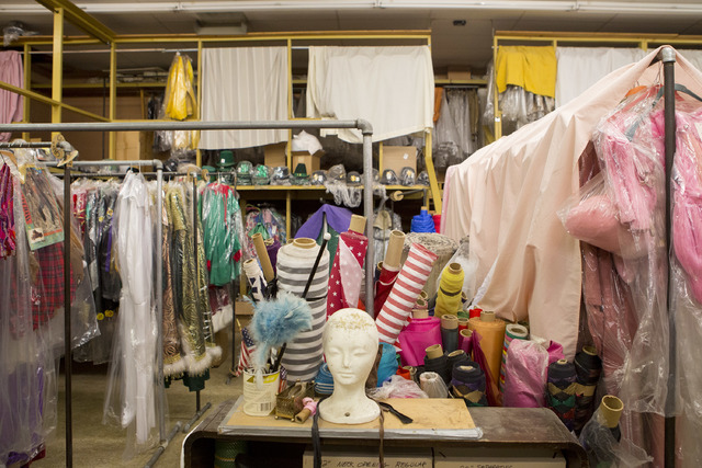 Costumes, accessories, mannequins and tools are stored in a back room at Williams Costume on Thursday, Feb. 16, 2017, in Las Vegas. (Bridget Bennett/View) @bridgetkbennett