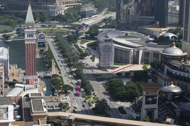 The Cotai Strip is photographed during a tour at the Parisian Macao hotel-casino on Thursday, Sept. 14, 2016, in Macau. Erik Verduzco/Las Vegas Review-Journal Follow @Erik_Verduzco
