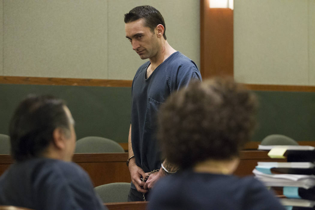 Jason Baker after testifying against Raymond Padilla, charged in the April 2016 killing of construction site security guard Mark Santee, in court for his preliminary hearing at the Regional Justic ...