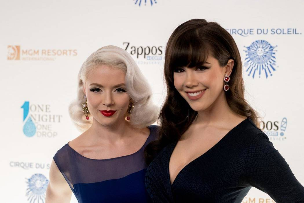 "Mosh and Claire Sinclair arrive on the blue carpet for the fifth-annual ""One Night for One Drop"" by Cirque du Soleil at ""Zumanity"" Theater at New York-New York on Friday, March 3, 2017, in Las Veg ..."