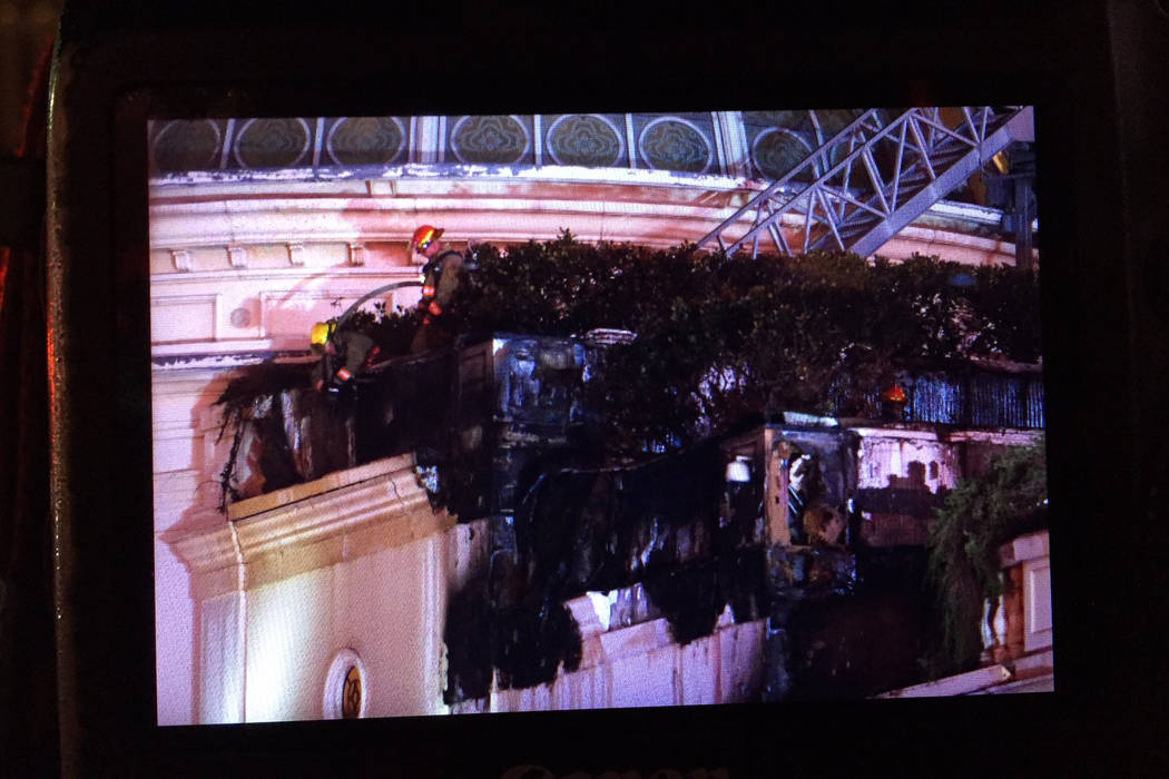 Fire quelled on roof of Bellagio retail annex