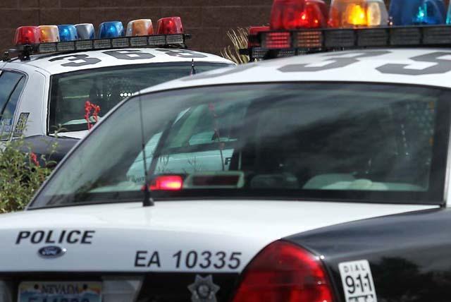 Las Vegas Metropolitan Police car. (Jason Bean/Las Vegas Review-Journal)