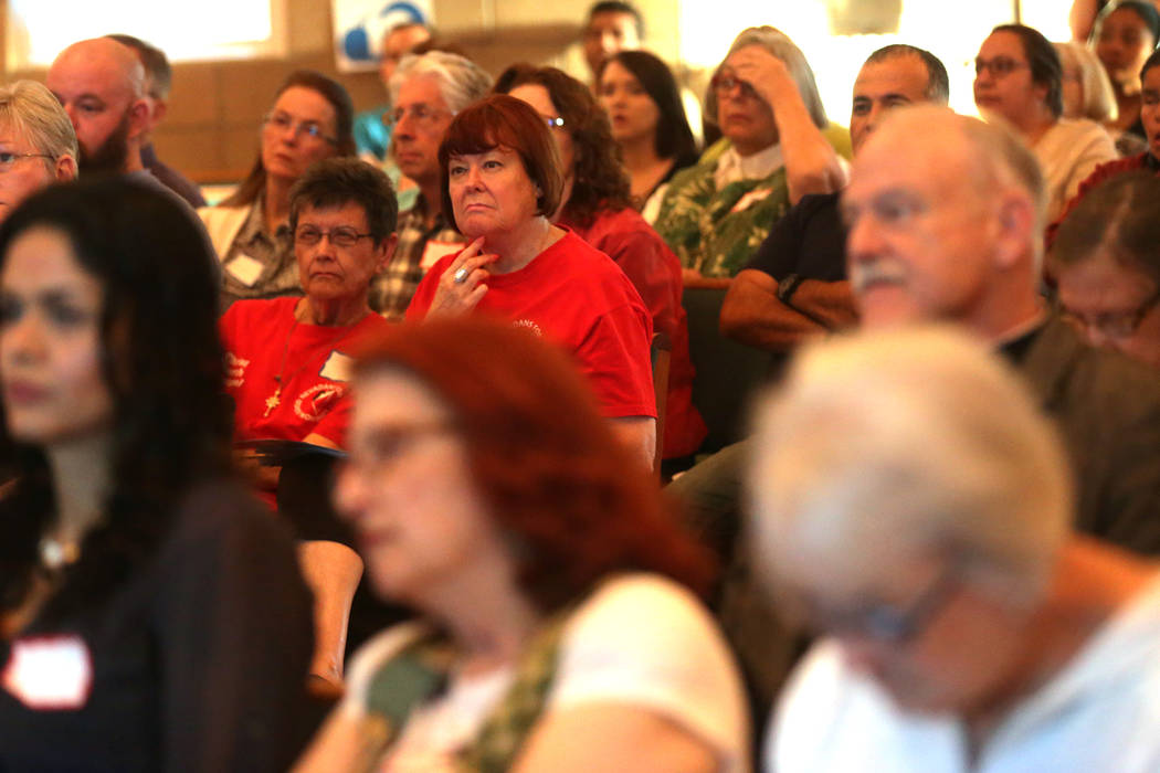 The audience at an immigration forum hosted by the Nevadans for the Common Good on Monday, April 17, 2017, at the All Saints Episcopal Church in Las Vegas. Rachel Aston Las Vegas Review-Journal @r ...