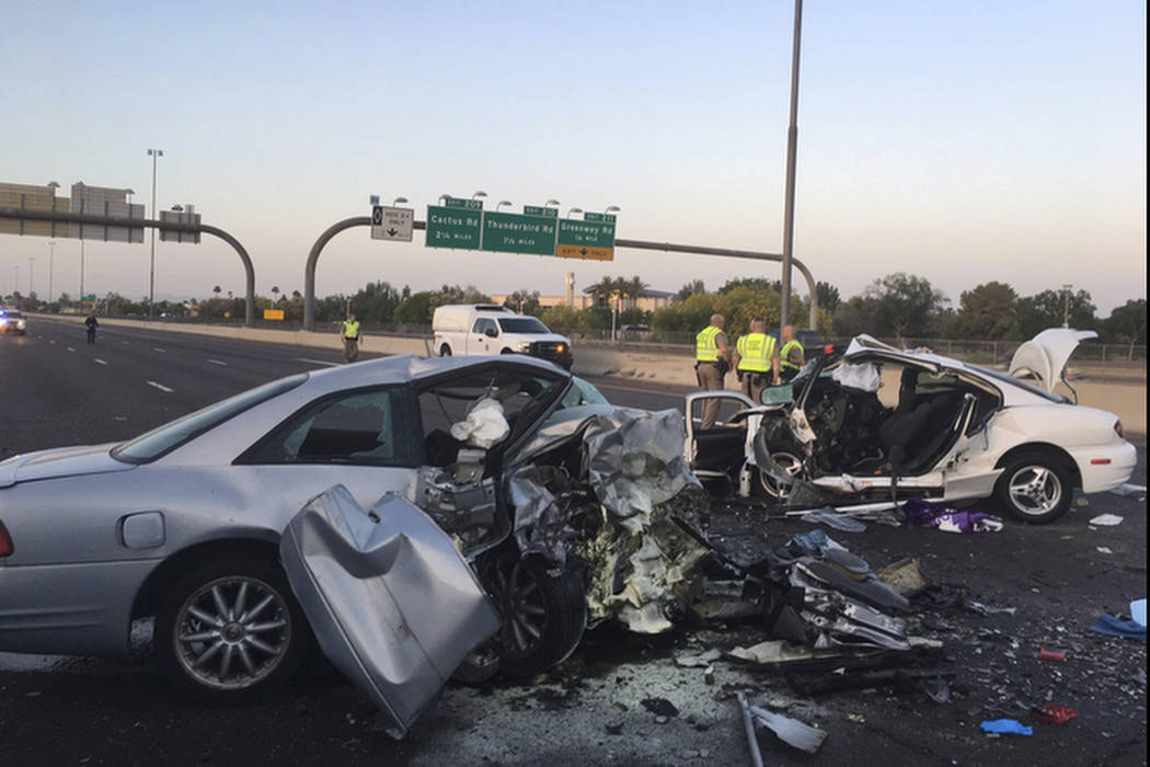 3 dead after wrong way crash in phoenix las vegas review journal. Black Bedroom Furniture Sets. Home Design Ideas