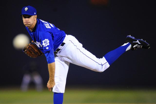 Las Vegas 51s starting pitcher Sean Gilmartin is shown May 24, 2016, at Cashman Field. (Josh Holmberg/Las Vegas Review-Journal)