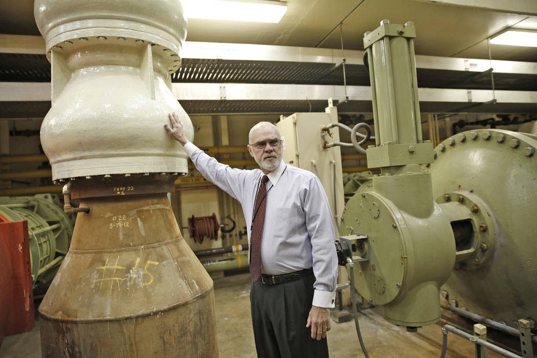 Mark Walters talks to the Review-Journal at the pumping stations at Lake Mead on Wednesday, January 25, 2017, in Clark County. Rachel Aston Las Vegas Review-Journal @rookie__rae