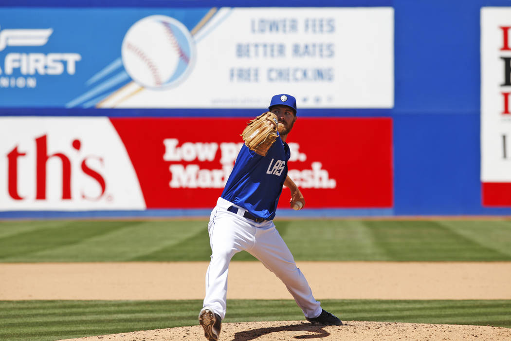 Las Vegas 51s pitcher Adam Wilk faces the Sacramento River Cats Sunday, April 16, 2017, at Cashman Field in Las Vegas. Rachel Aston Las Vegas Review-Journal @rookie__rae