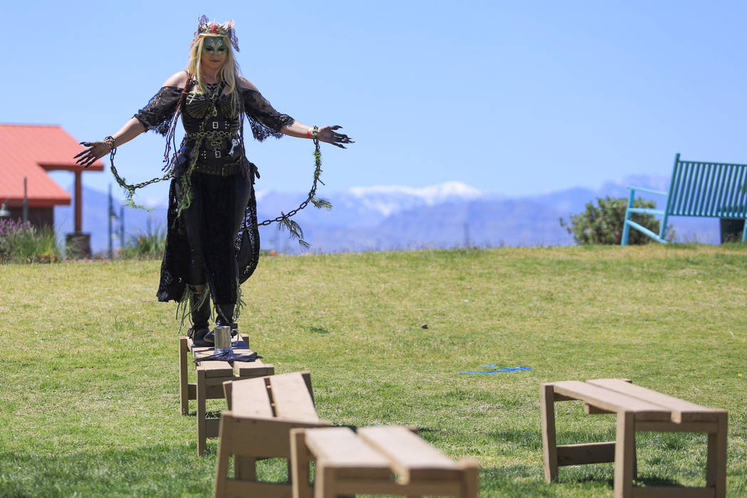 Heather Guy plays Sea Witch Camille Llewellyn Mimi Sue Valois during Pirate Fest 2017 at Craig Ranch Regional Park on Friday, April 21, 2017. Brett Le Blanc Las Vegas Review-Journal @bleblancphoto