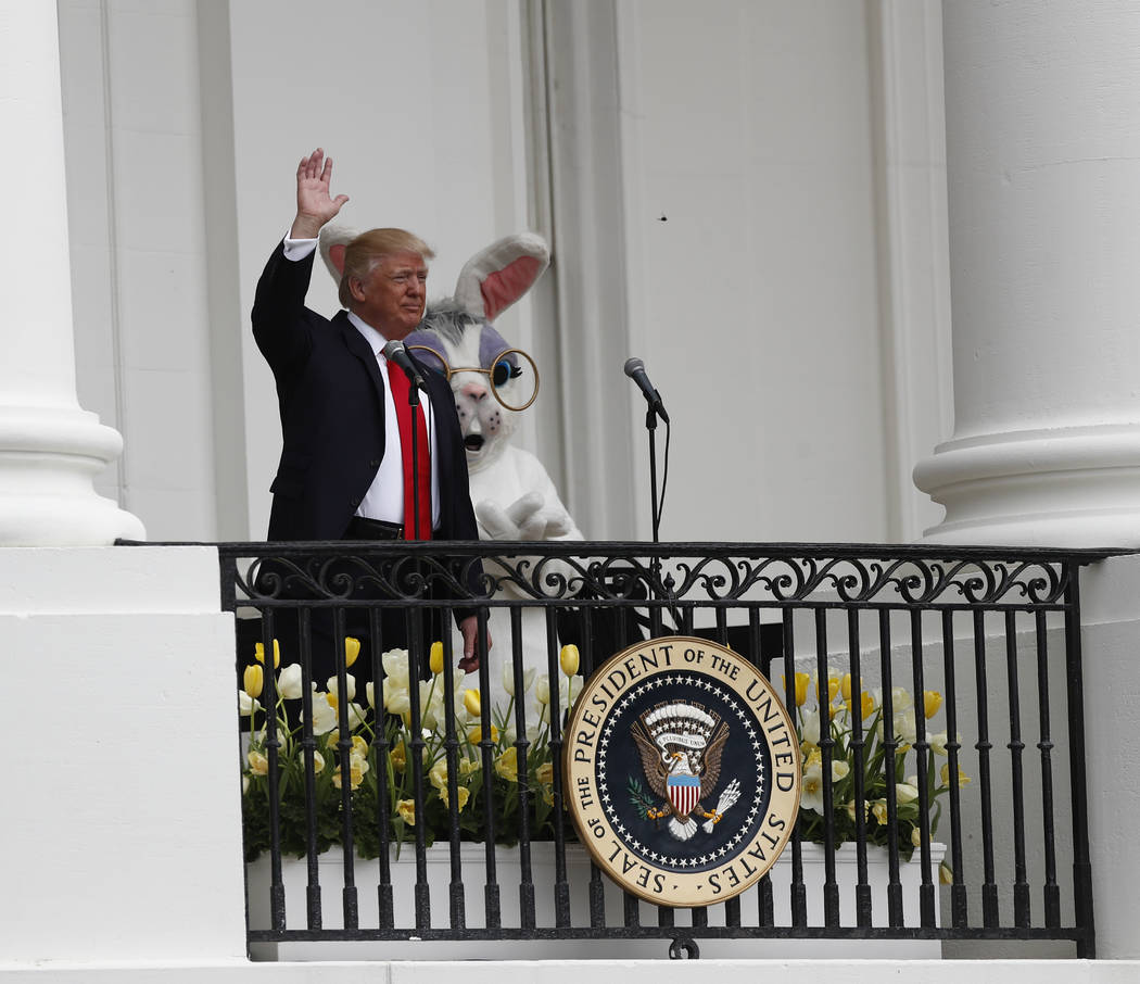 Trump at Easter Egg Roll: 'We're right on track'