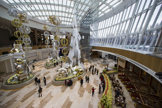 The conservatory at MGM National Harbor hotel-casino in Oxon Hill, Md. on Thursday, Dec. 8, 2016. (Chase Stevens/Las Vegas Review-Journal) @csstevensphoto
