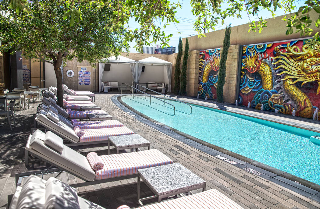 The private pool at the Lucky Dragon hotel-casino on Thursday, April 20, 2017, in Las Vegas. Benjamin Hager Las Vegas Review-Journal @benjaminhphoto