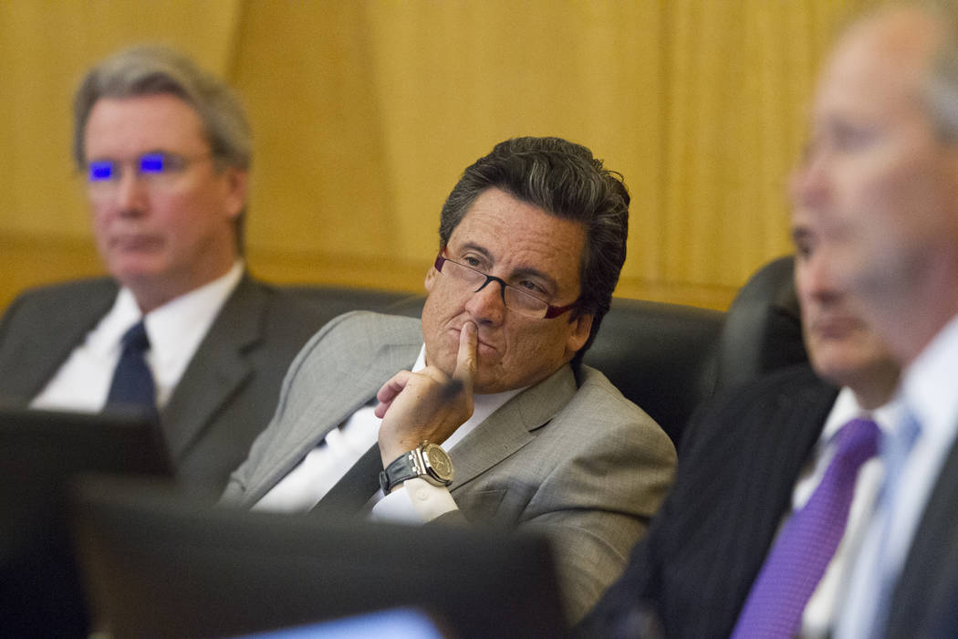 Board member Bill Hornbuckle during a Las Vegas Stadium Authority meeting at the Clark County Government Center on Thursday, April 20, 2017, in Las Vegas. Erik Verduzco Las Vegas Review-Journal @E ...
