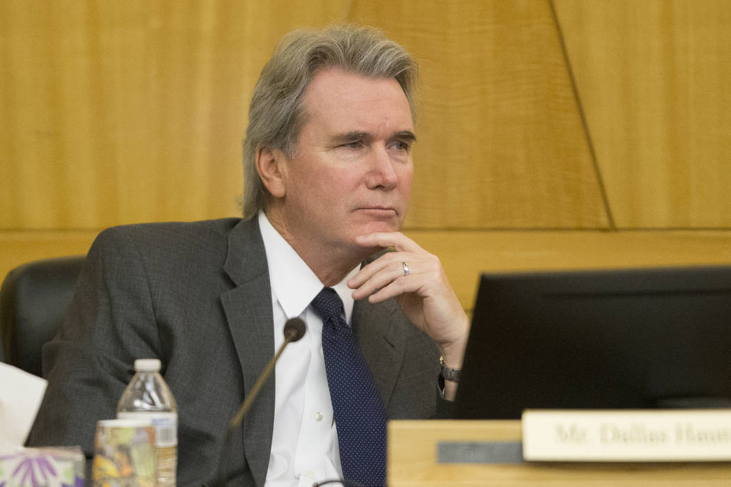 Board member Dallas Haun during a Las Vegas Stadium Authority meeting at the Clark County Government Center on Thursday, April 20, 2017, in Las Vegas. Erik Verduzco Las Vegas Review-Journal @Erik_ ...