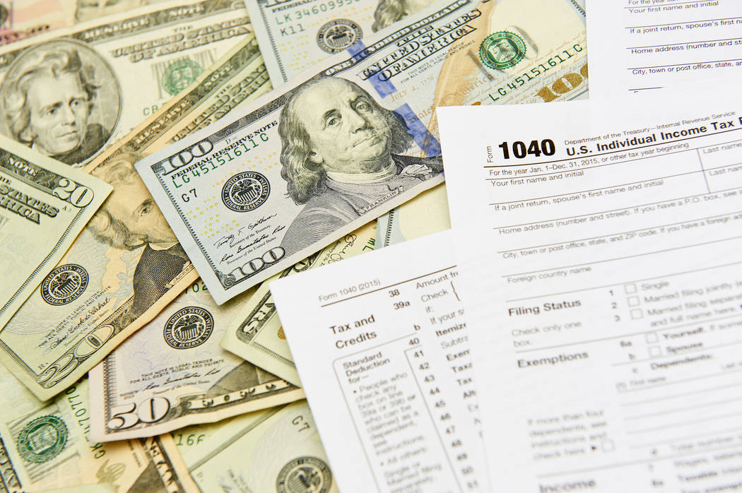 1040 tax forms. (Thinkstock)
