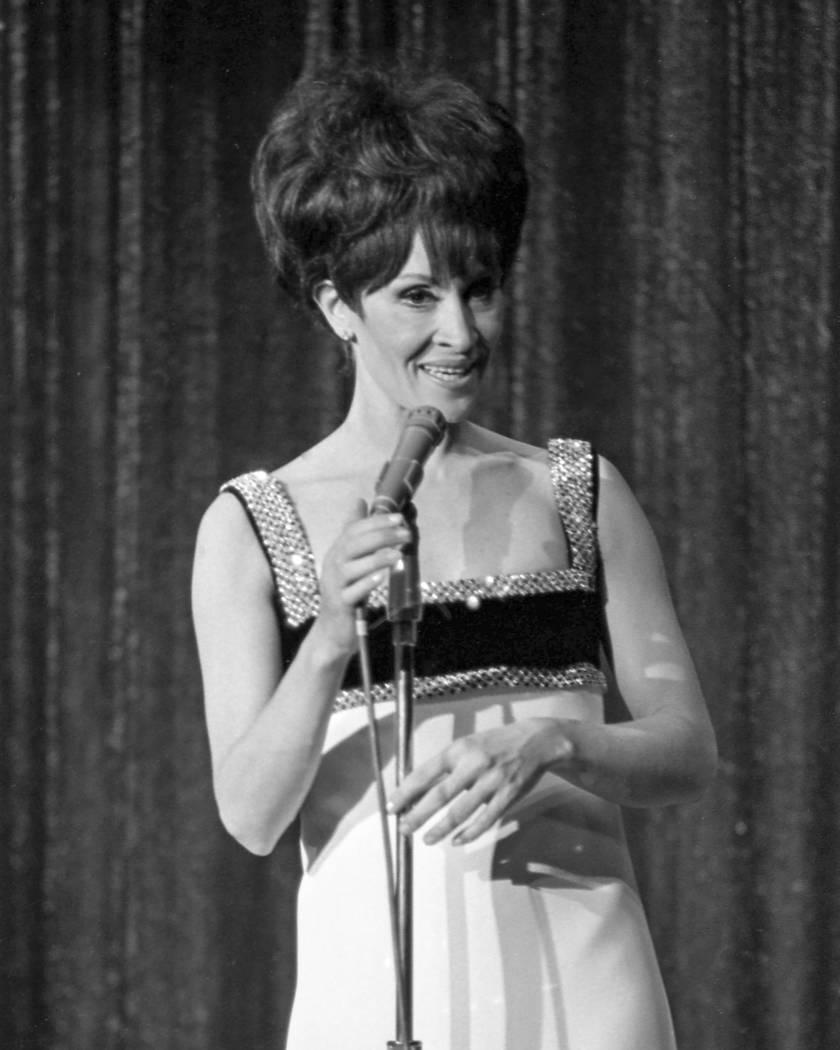 Actress, dancer and singer Chita Rivera performs at the Thunderbird Hotel-Casino in Las Vegas on May 8, 1967. Las Vegas News Bureau