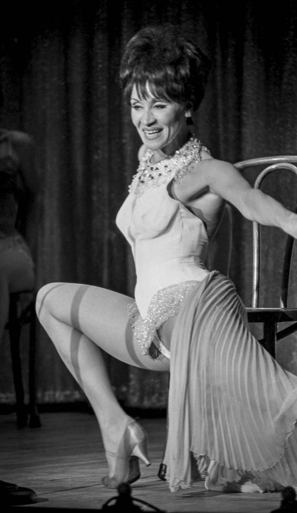 Chita Rivera brings her Broadway dancing talents to the showroom stage at the Thunderbird Hotel-Casino in 1967. Las Vegas News Bureau