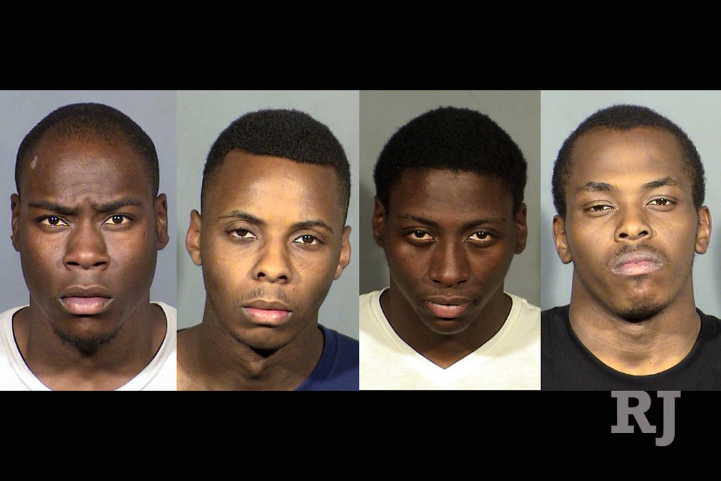 Rondall Talley, Tylon Marshall, Donnell Talley and Calvin Rembert. (Las Vegas Metropolitan Police Department)