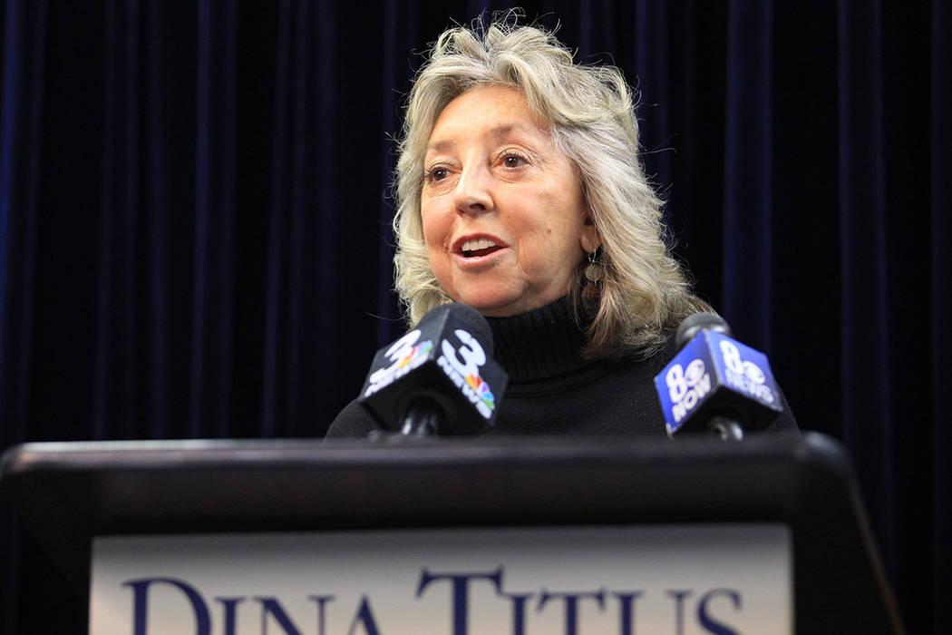 Representative Dina Titus, D-Nev. (Brett Le Blanc/Las Vegas Review-Journal) Follow @bleblancphoto