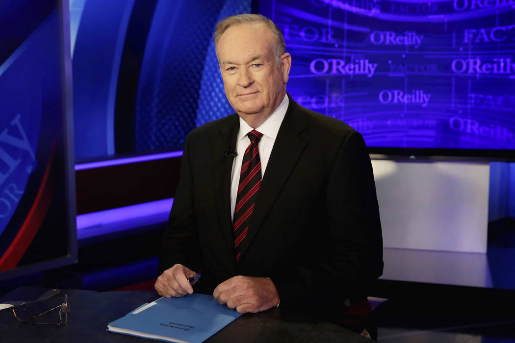 """Host Bill O'Reilly of """"The O'Reilly Factor"""" on the Fox News Channel on Oct. 1, 2015, in New York. (Richard Drew/File, AP)"""