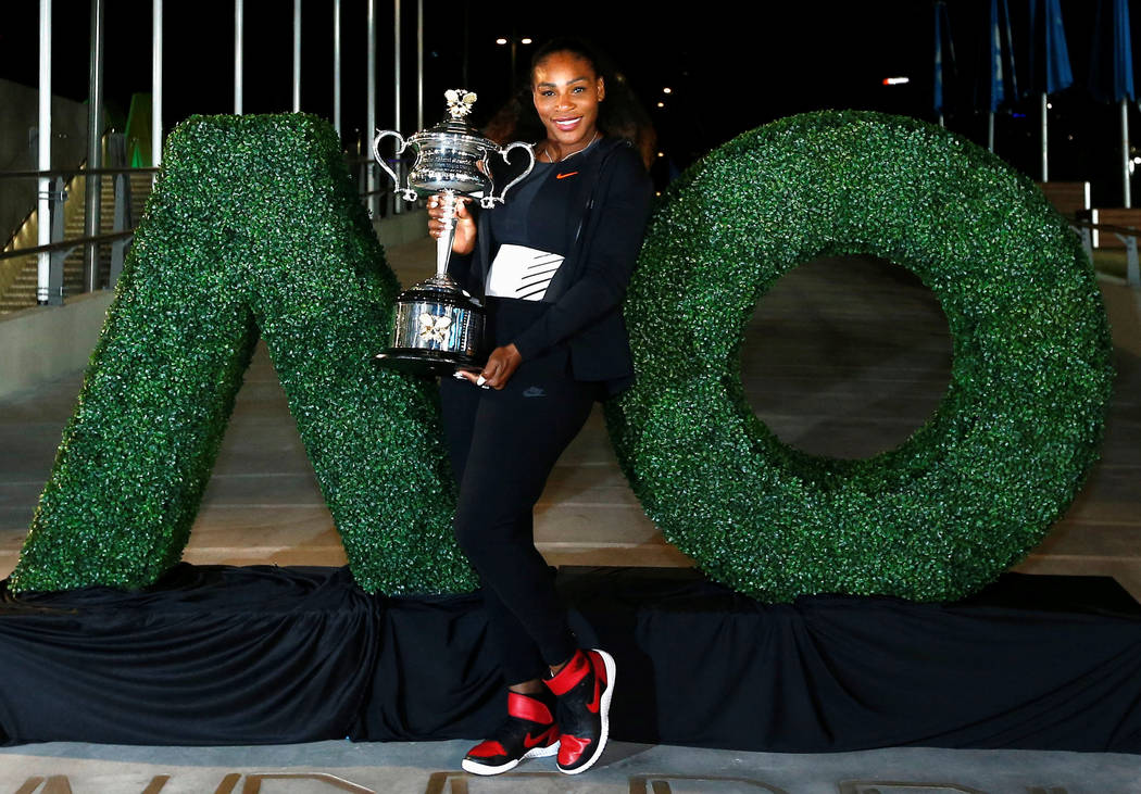 Serena Williams won the 2017 women's singles title in the Australian Open in Melbourne. Thomas Peter Reuters File