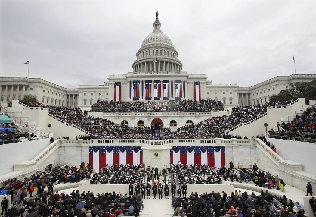 President Donald Trump delivers his inaugural address after being sworn in as the 45th president of the United States during the 58th Presidential Inauguration at the U.S. Capitol in Washington on ...