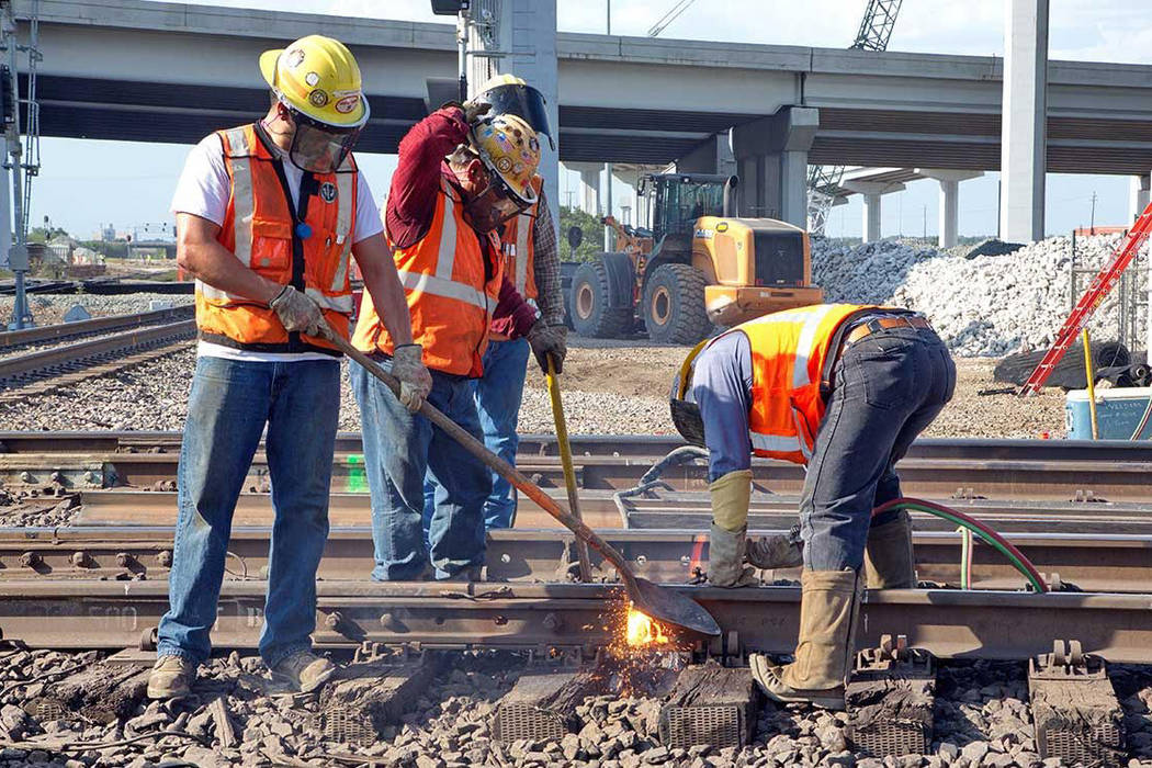 Union Pacific Railroad said it plans about $26.8 million infrastructure investment in Nevada this year. (Union Pacific Railroad)