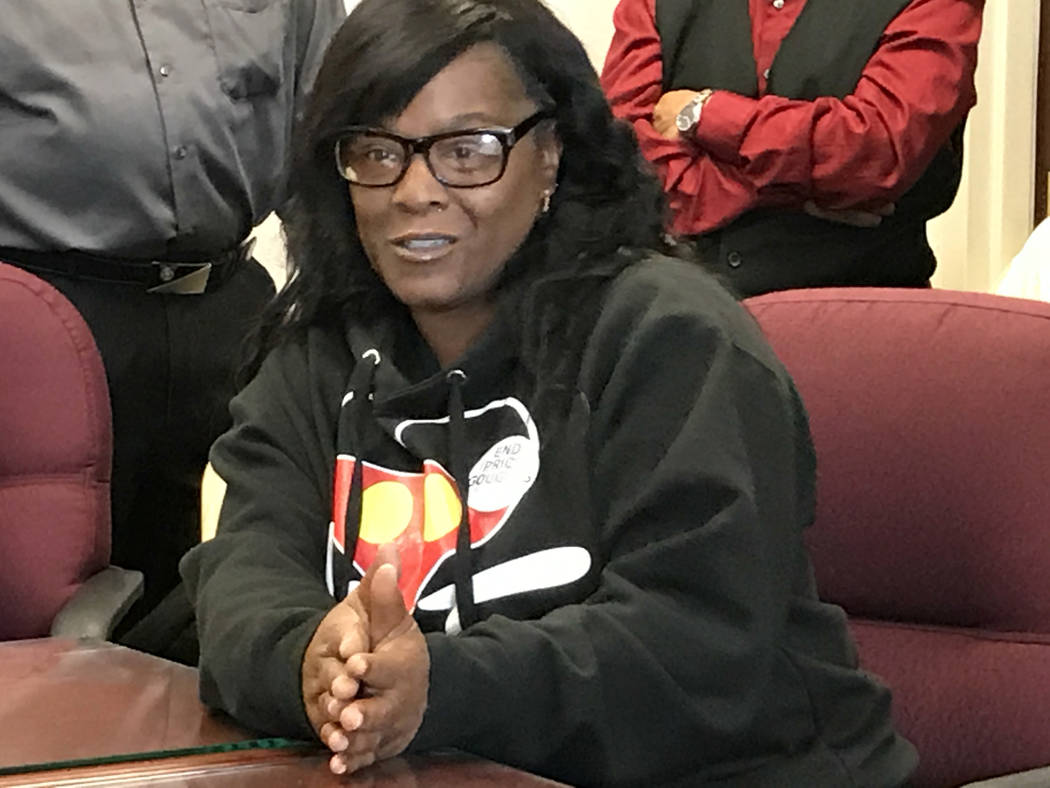 Keyonna Lawrence was diagnosed with diabetes three years ago. At a news conference Wednesday, April 19, 2017 in Carson City, she said her biggest fear is her 11-year old son will go looking for hi ...