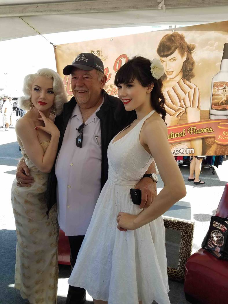 Mosh, Robin Leach and Claire Sinclair attend Viva Las Vegas Rockabilly Weekend at The Orleans on Saturday, April 15, 2017, in Las Vegas. (Richard Corey)