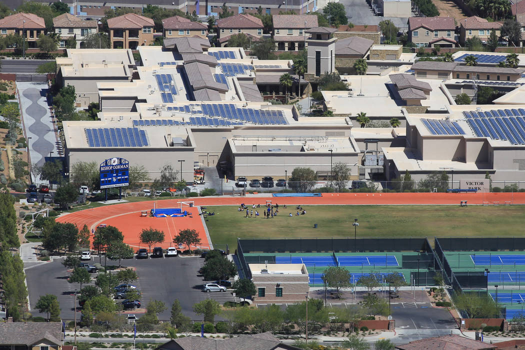 Bishop Gorman Catholic High School on Thursday, April 20, 2017. Brett Le Blanc Las Vegas Review-Journal @bleblancphoto
