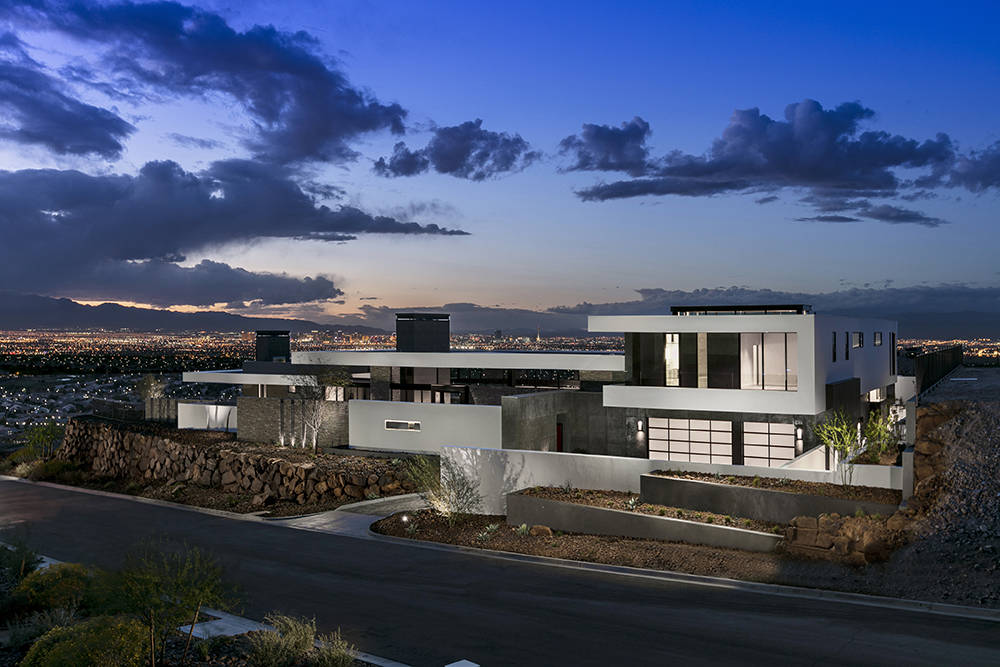 San Francisco-based SB Architects designed this showcase home for Ascaya to show off its sweeping views of the Las Vegas Strip. (Ascaya)