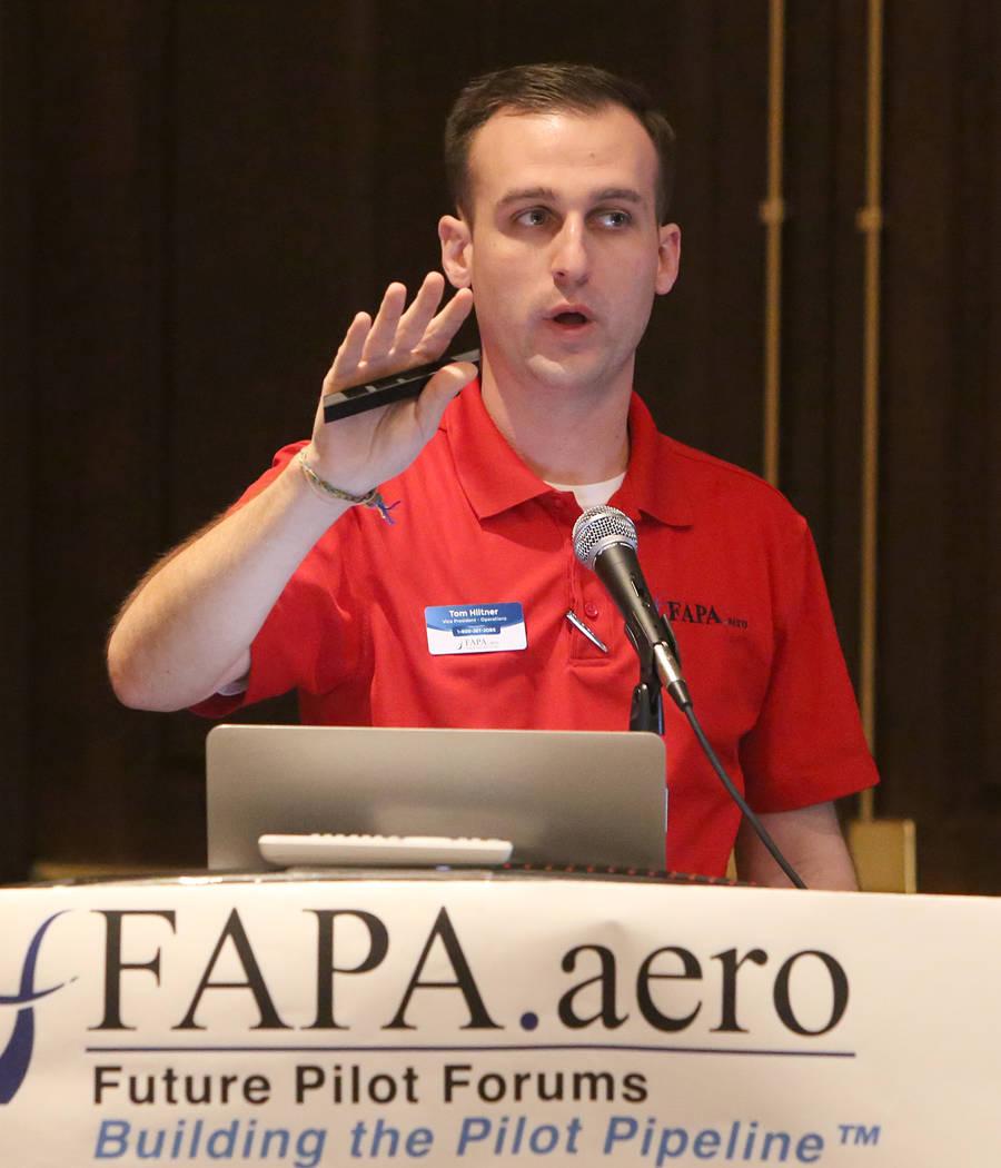 Vice President Operations | FAPA.aero, Tom Hiltner, at FAPA's Future Pilot Forum at Tuscany Suites & Casino on Saturday, April 22, 2017, in Las Vegas. Bizuayehu Tesfaye Las Vegas Review-Journa ...