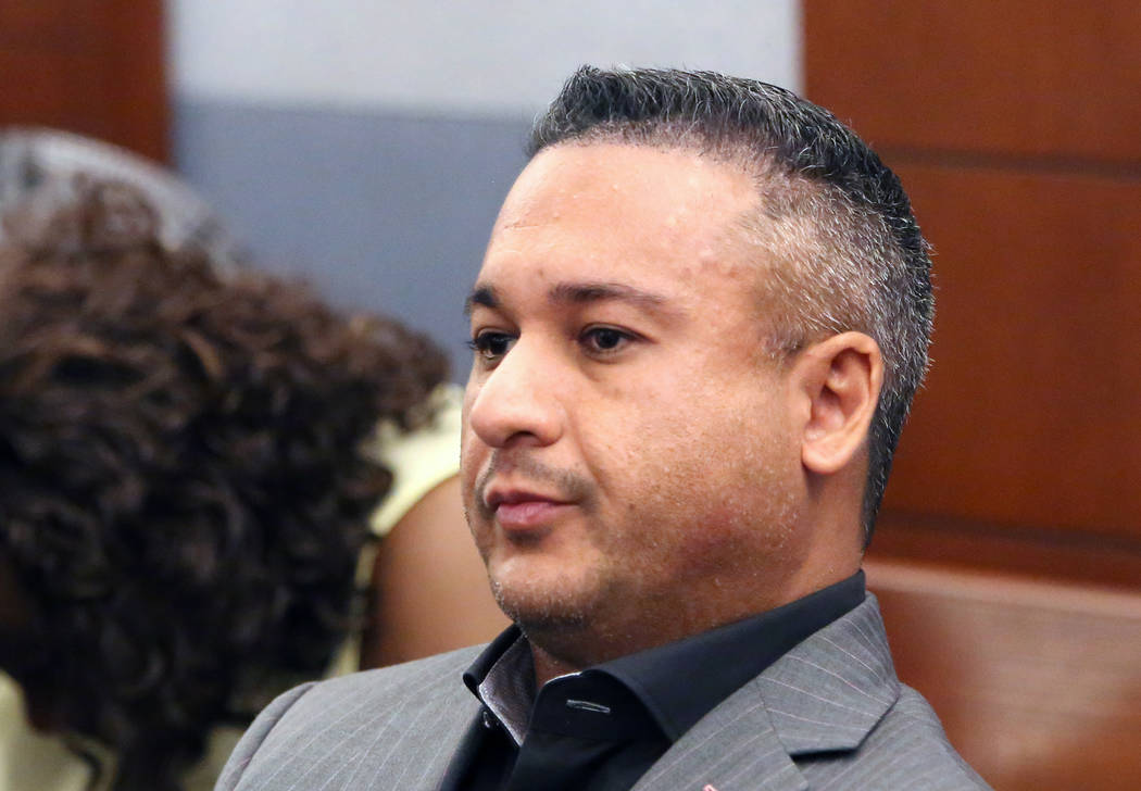 "David ""Vegas Dave"" Oancea, who is charged with domestic violence, appears at the Regional Justice Center on Friday, April 21, 2017, in Las Vegas. Bizuayehu Tesfaye Las Vegas Review-Journal @bizute ..."