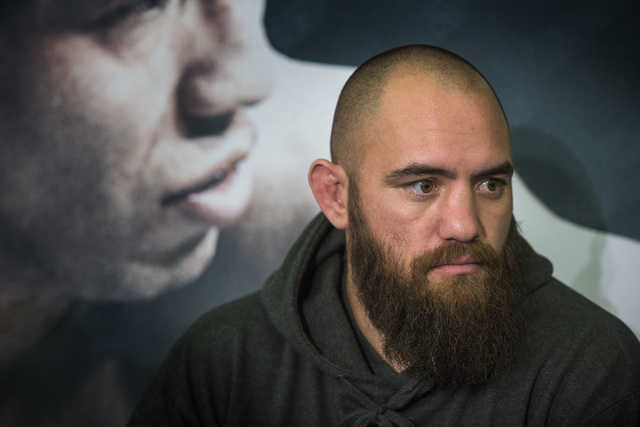 Travis Browne  during Media Day at the  MGM Grand on Thursday, Dec. 03, 2014. (Jeff Scheid/Las Vegas Review-Journal)