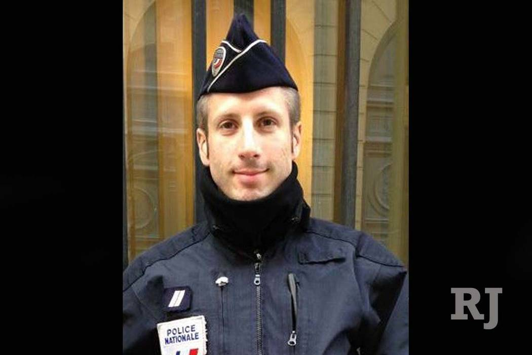 French police officer Xavier Jugele was killed by a gunman Thursday on the Champs-Elysees in Paris. FLAG via AP