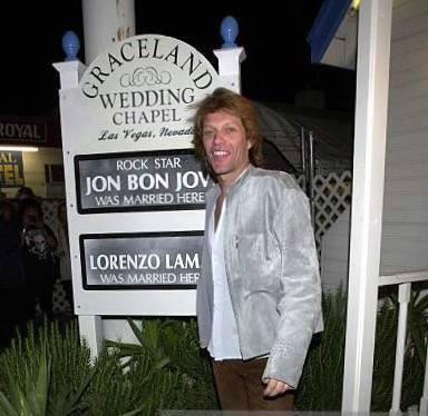 Jon Bon Jovi At Graceland Wedding Chapel In Las Vegas Courtesy