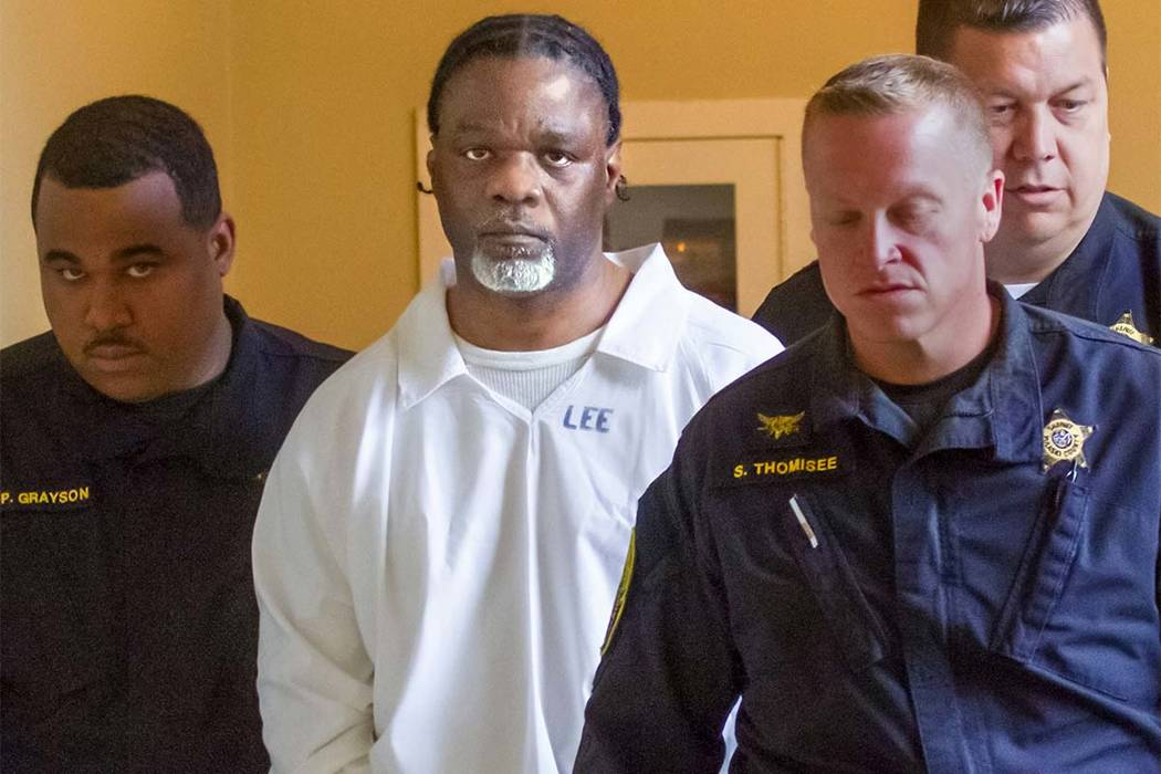 In this Tuesday, April 18, 2017 file photo, Ledell Lee appears in Pulaski County Circuit Court for a hearing. Lee was put to death Thursdau to death after being convicted of killing Debra Reese wi ...
