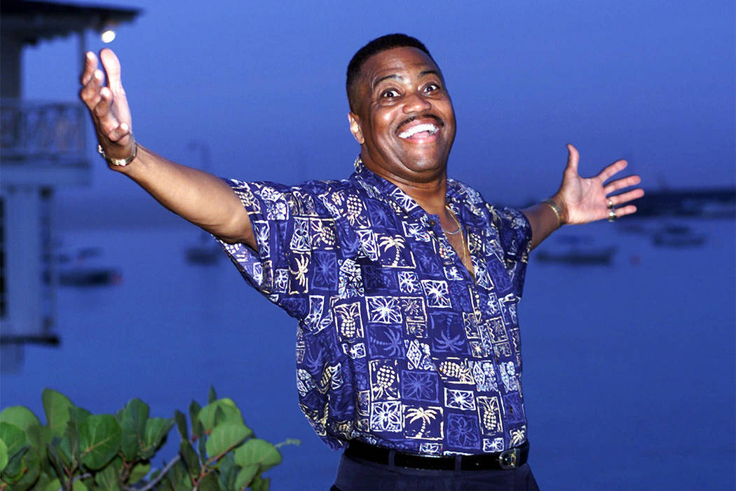 FILE - In this Aug. 18, 1999 file photo, Cuba Gooding Sr. lead vocalist of the legendary r&b/pop group The Main Ingredient, and father of Oscar winning actor Cuba Gooding Jr., gestures during  ...