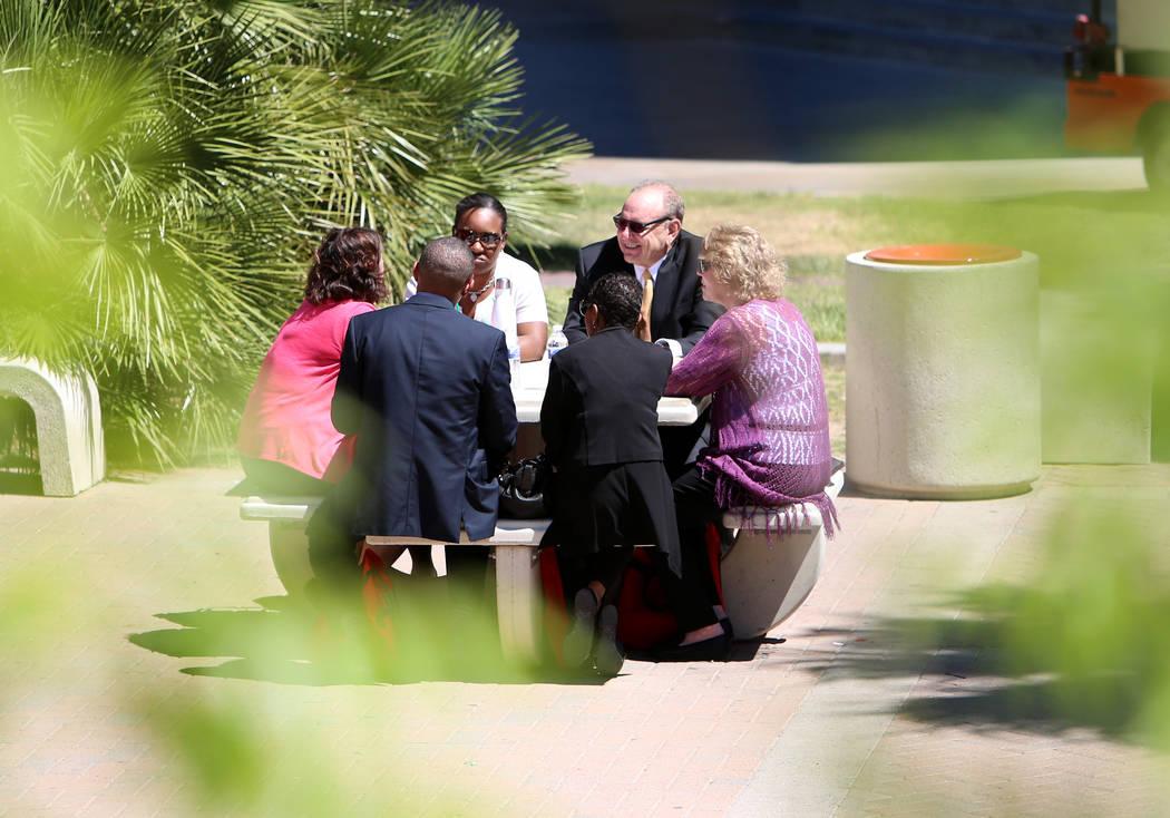 People relax at the UNLV campus' park on Friday, April 21, 2017, in Las Vegas. Bizuayehu Tesfaye Las Vegas Review-Journal @bizutesfaye