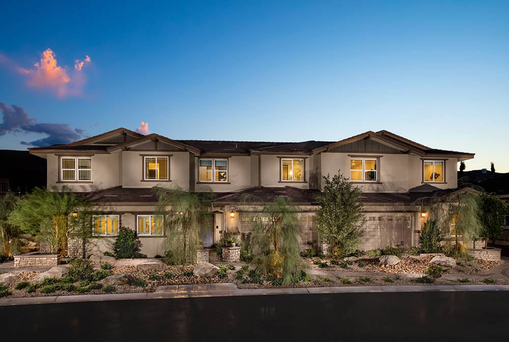 The gated Vista Dulce neighborhood in The Mesa village, one of several attached home options now selling in Summerlin, is perfect for those seeking to right-size their living space and lifestyle.
