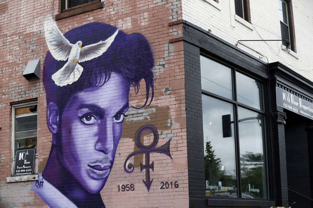 A mural honoring the late Prince adorns a building in the Uptown area of Minneapolis on Aug 28, 2016. Jim Mone/AP