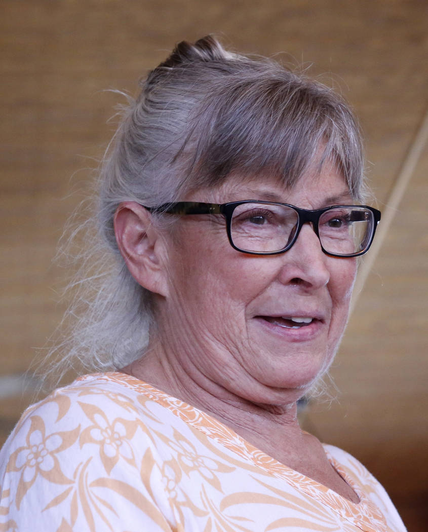 Goodsprings Justice of the Peace Dawn Haviland at Sandy Valley ranch on Saturday, April 22, 2017, in Sandy Valley, California. Christian K. Lee Las Vegas Review-Journal @chrisklee_jpeg