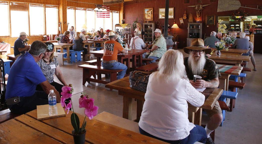 A crowd of supporters of Goodsprings Justice of the Peace Dawn Haviland at Sandy Valley ranch on Saturday, April 22, 2017, in Sandy Valley, California. Christian K. Lee Las Vegas Review-Journal @c ...