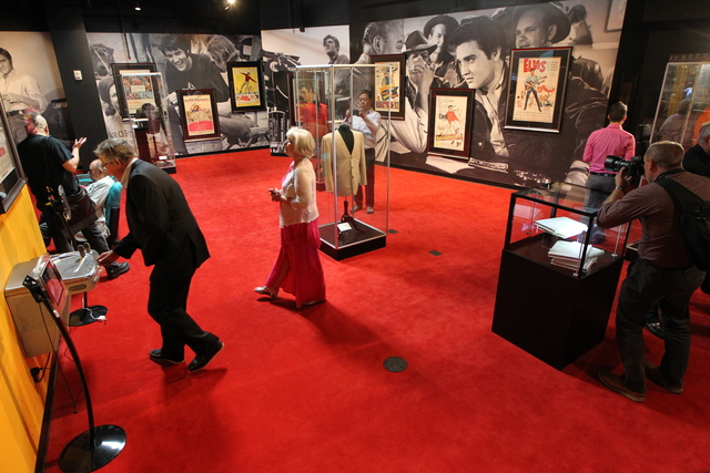"""The showroom for """"Graceland Presents Elvis: The Exhibition - The Show - The Experience"""" at the Westgate Las Vegas casino-hotel in Las Vegas is seen on Thursday, April 23, 2015. ( ..."""