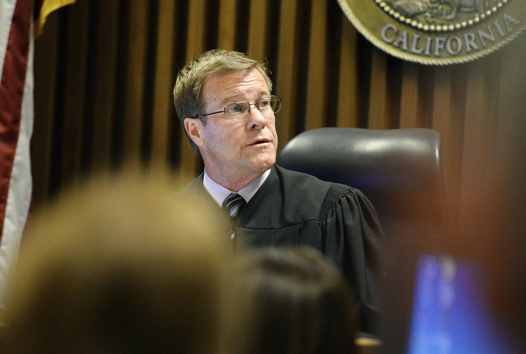 Fresno County Superior Court judge W. Kent Hamlin presides over the courtroom during an appearance by shooting-spree suspect Kori Ali Muhammad, on Friday, April 21, 2017. Craig Kohlruss /The Fresn ...