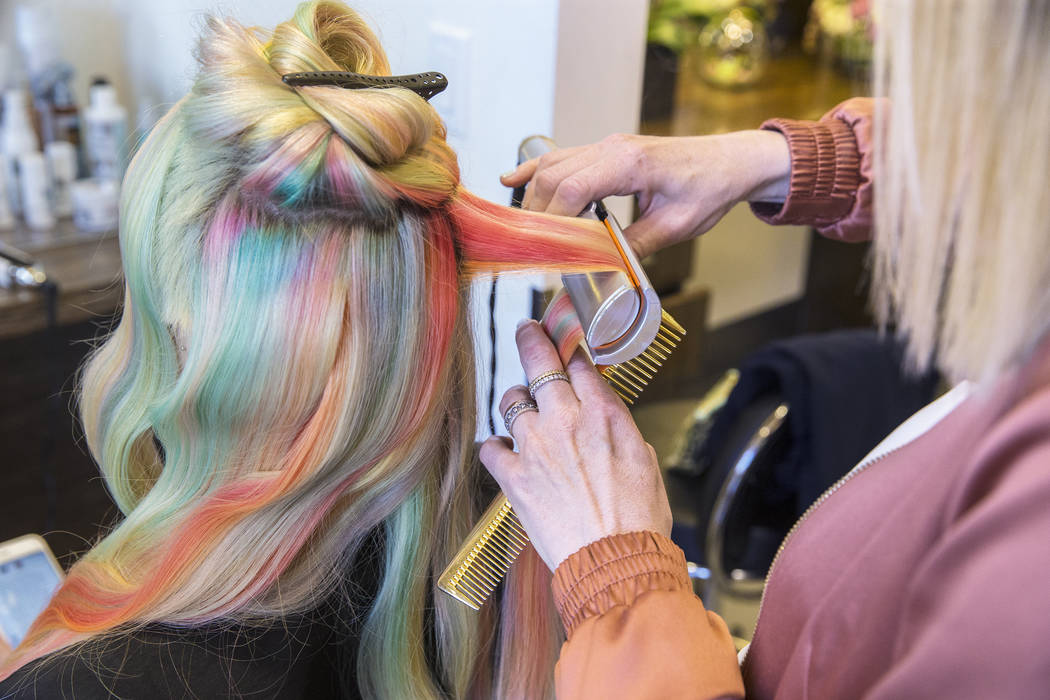 Hairstylist Shelley Gregory brings rainbow hair to Las ...