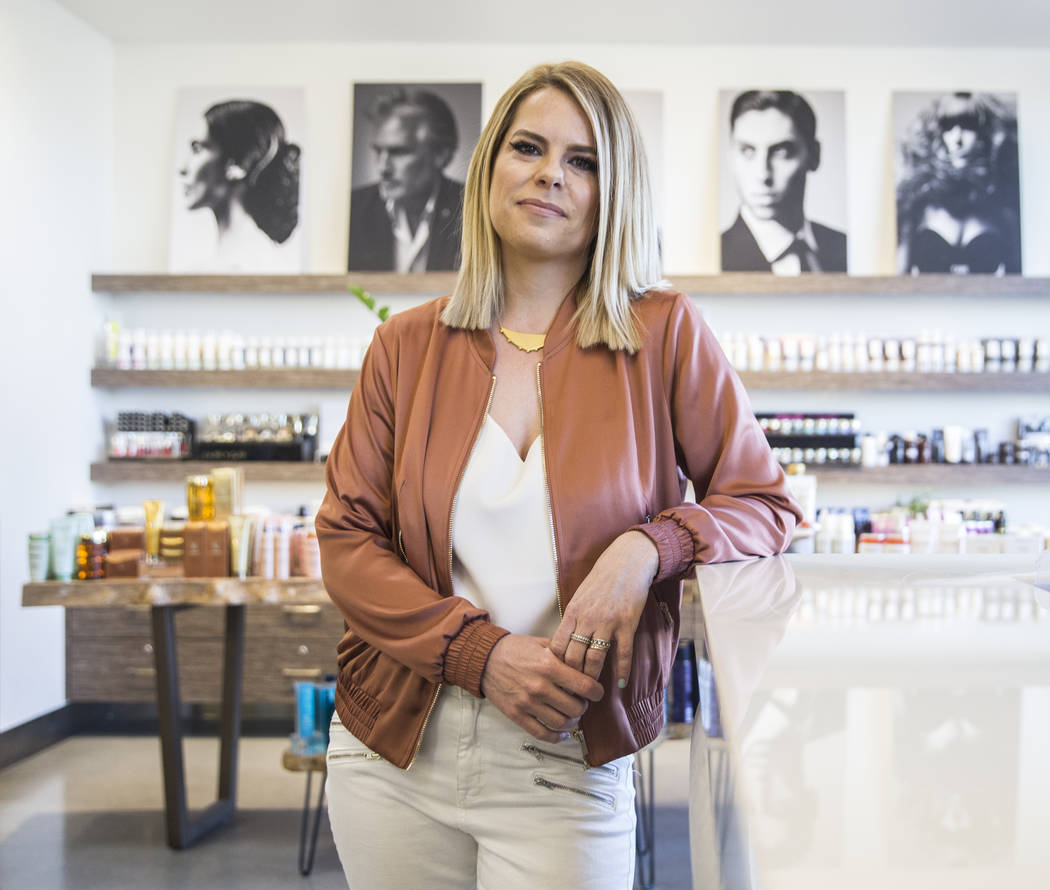 Stylist Shelley Gregory specializes in blonde and rainbow colored hair, and was recently named a brand ambassador for Loreal Professional. Photo taken on Wednesday, April 12, 2017, at Atelier by S ...