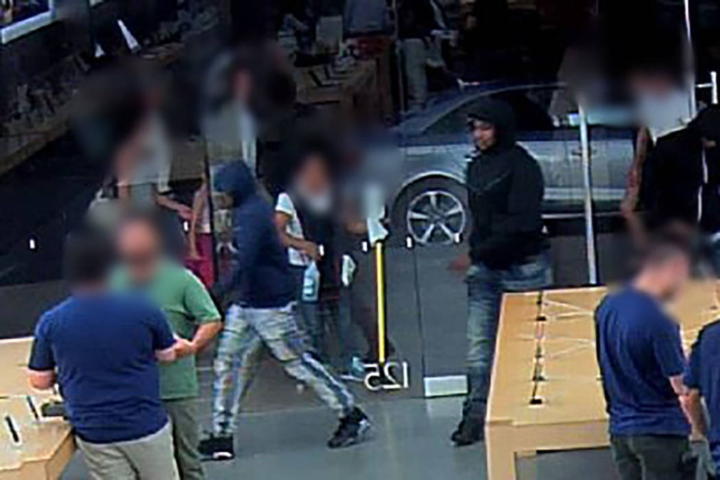 Police are asking for help identifying three people suspected of stealing from stores across the Las Vegas Valley. (Metropolitan Police Department)