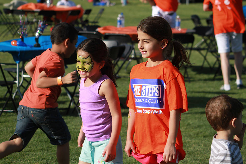The kids will enjoy a variety of activities and Exploration Park's Old Western Village this morning at the Take Steps Walk at Mountain's Edge master-planned community.